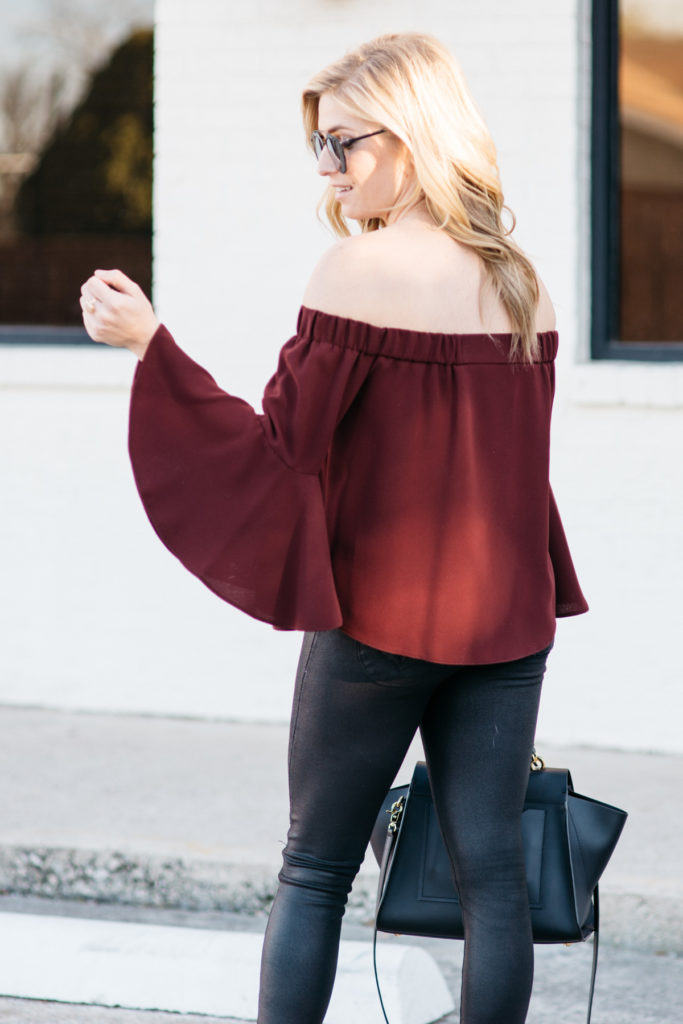 off the shoulder top, valentines day outfit