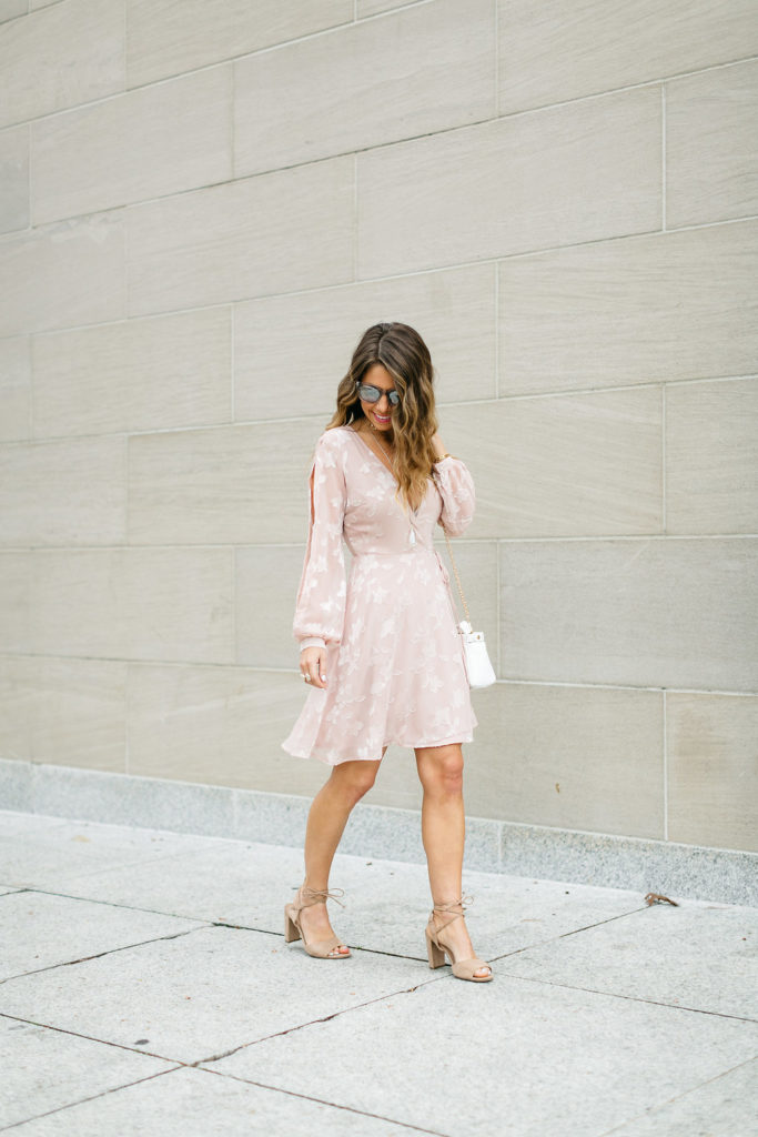 the fashion hour, galentines day dresses, pink wrap dress