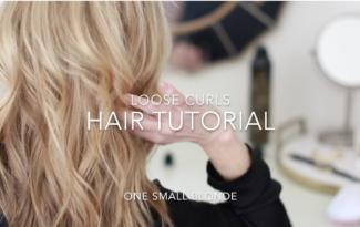 LOOSE CURLS HAIR TUTORIAL