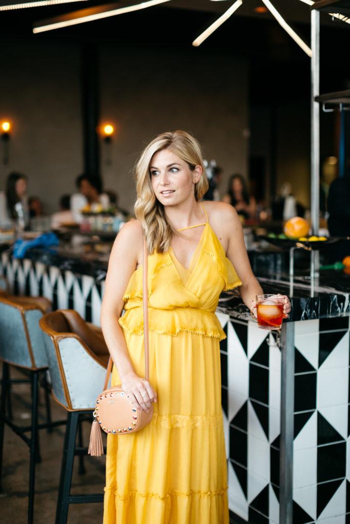 yellow spring color trend, yellow maxi dress, deep ellum dallas, dallas style blogger