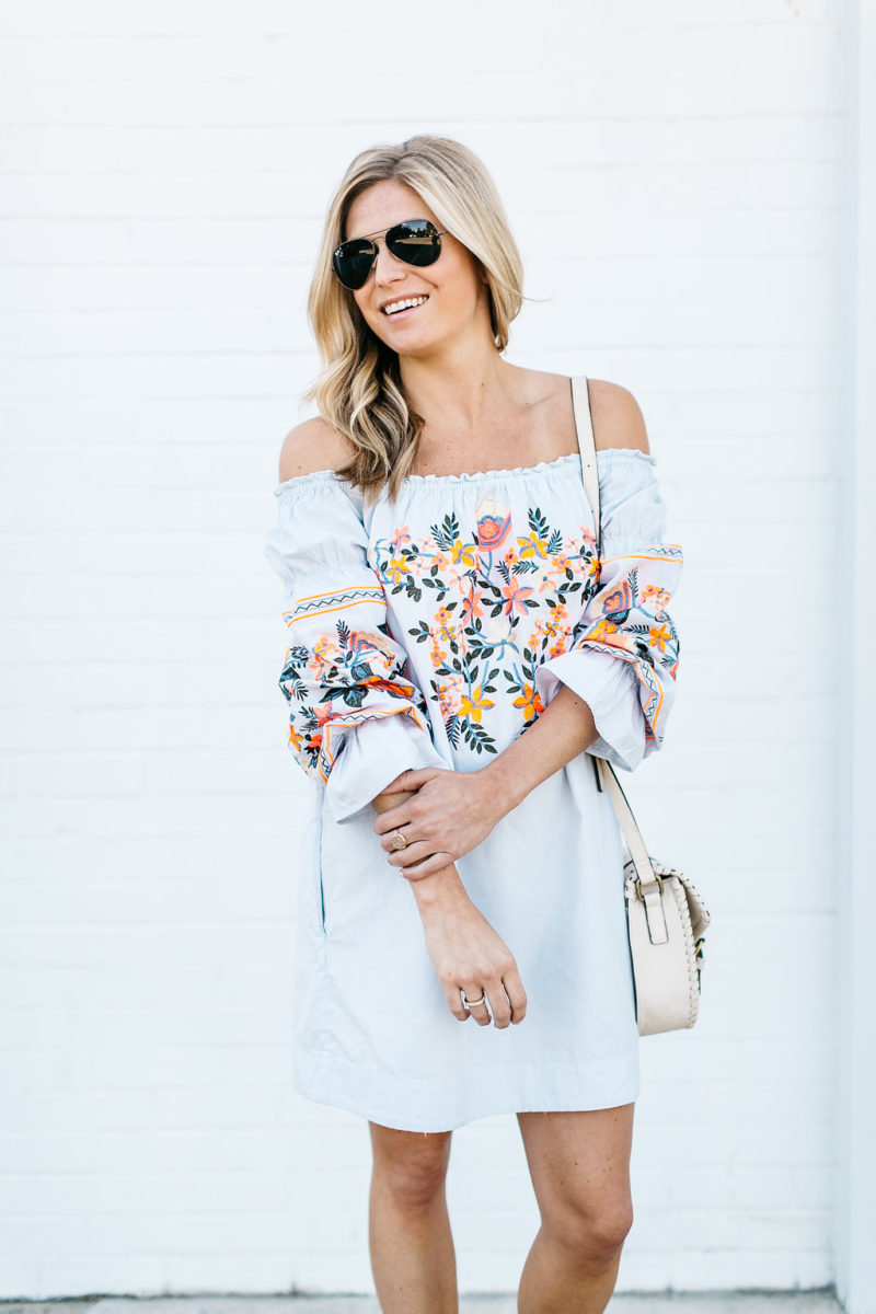 embroidered summer outfit