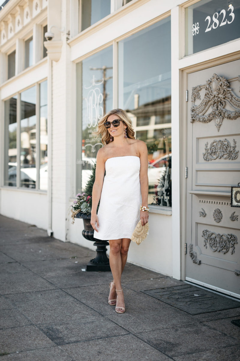 white tube dress | white outfits for summer