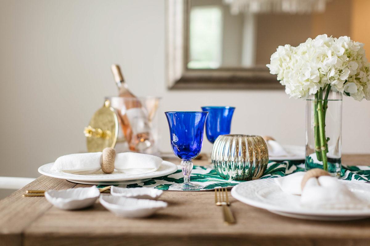 summer dining table decor