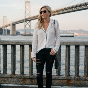 HOW TO STYLE A PAJAMA TOP