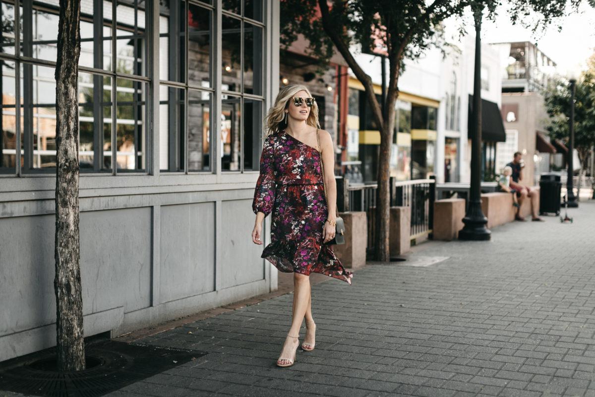 burgundy FLORAL DRESSES FOR FALL
