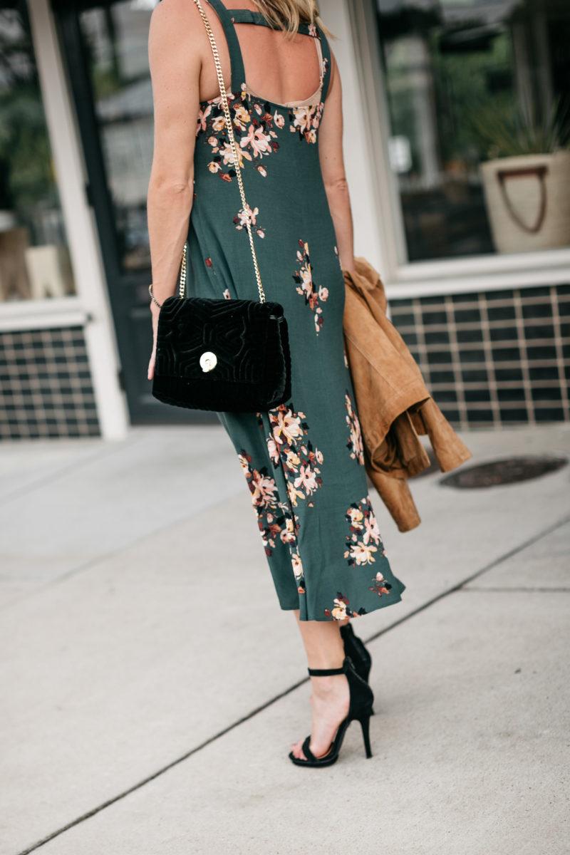 Dallas Fashion Blogger, green dress, fall fashion