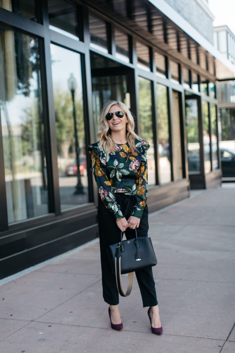 work attire, black handbag, dallas fashion