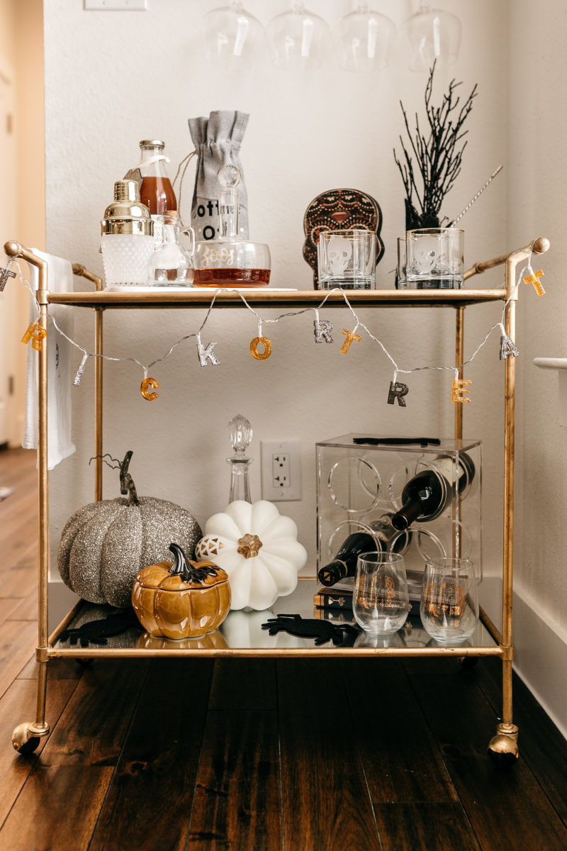 HALLOWEEN BAR CART