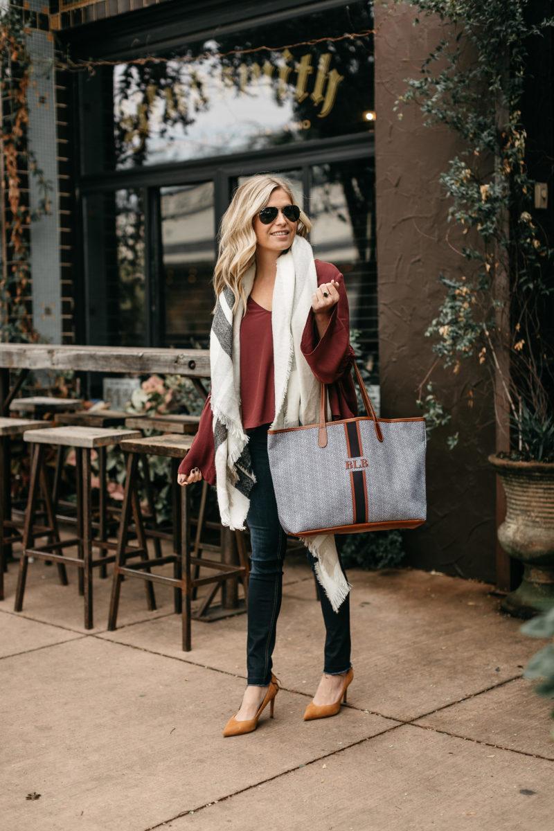 style blogger, tote bag, weekender