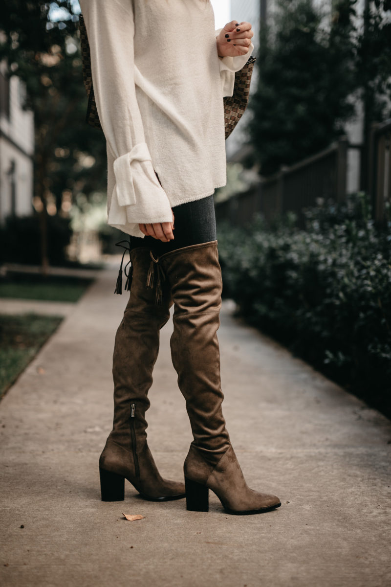 OTK boots, fashion blogger, fall boots