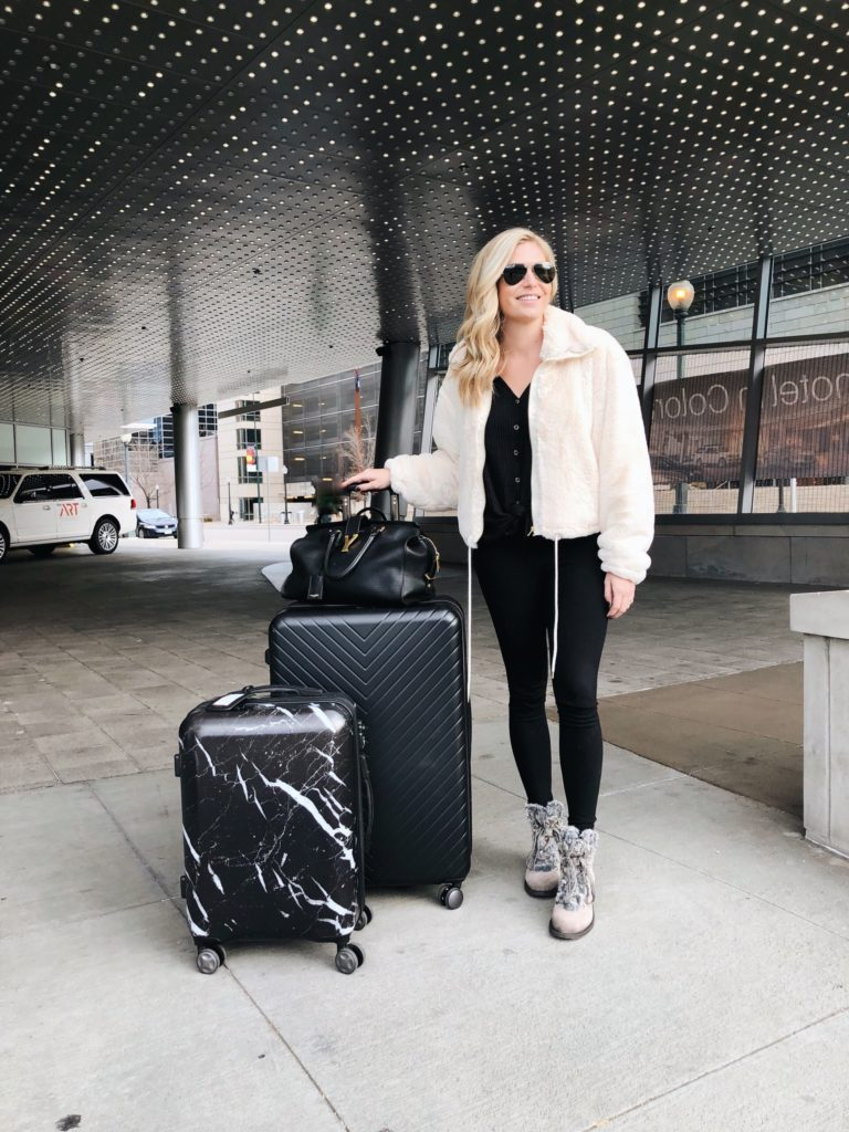 travel outfit, luggage, Colorado