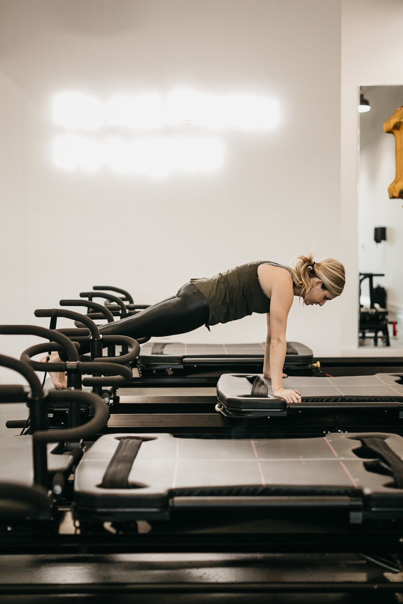 fashion blogger, one small blonde, workout class