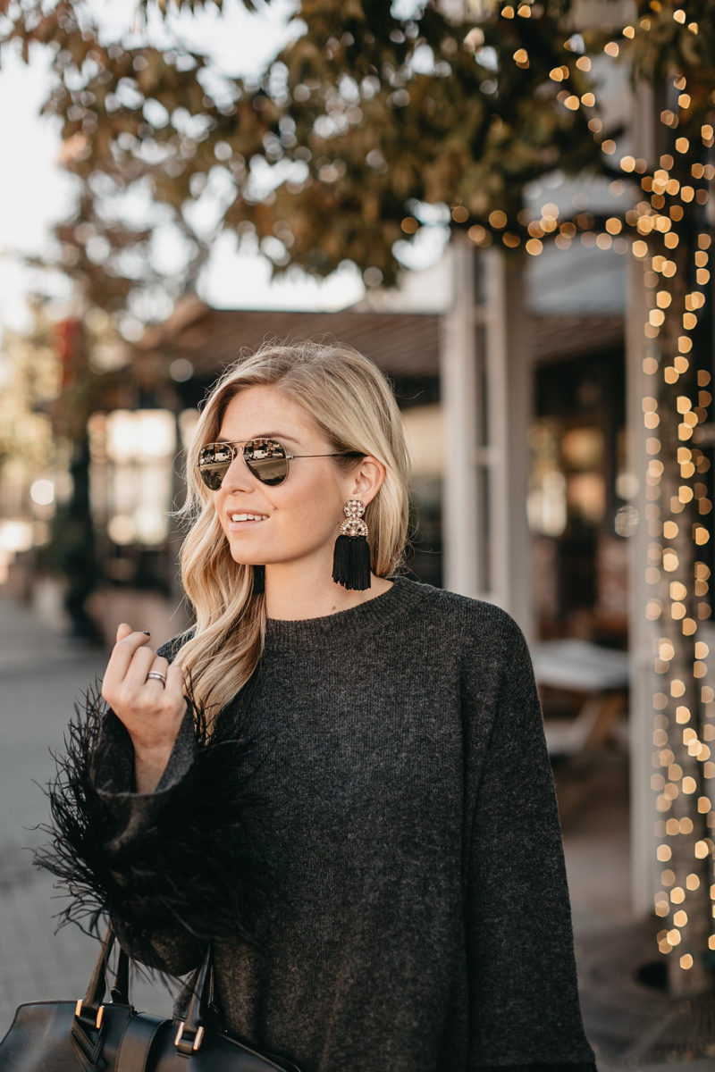 nye outfit, aviators, holiday plans, brooke burnett