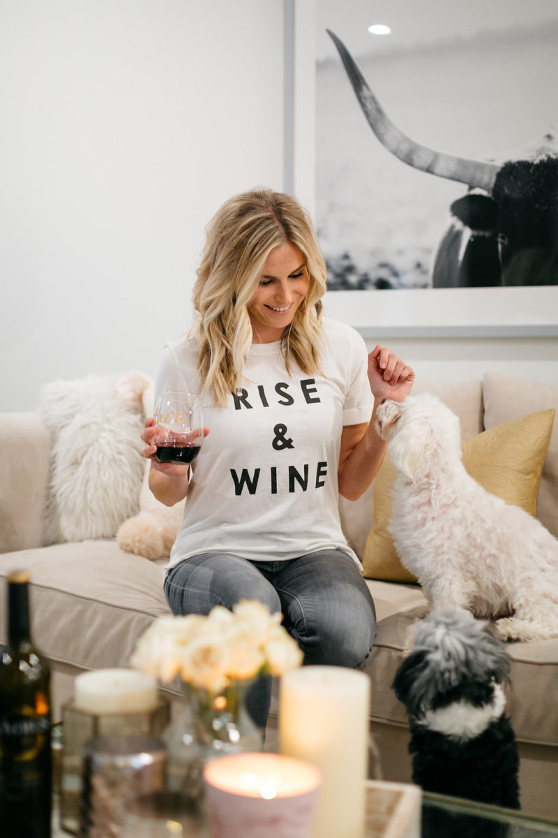 graphic tee, style blogger, fashion blogger, dog mom, wine lover