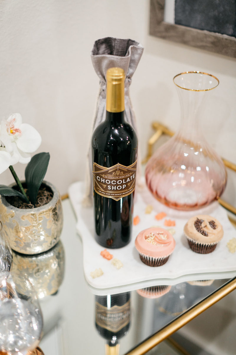 chocolate wine, valentine's day gift, where to celebrate valentine's in dallas, one small blonde