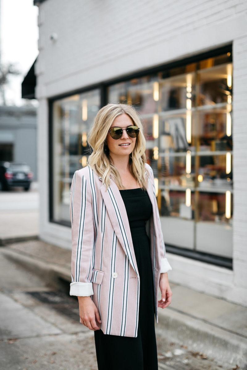 boyfriend blazer, statement blazer, trendy work outfit, insta lately march 2018