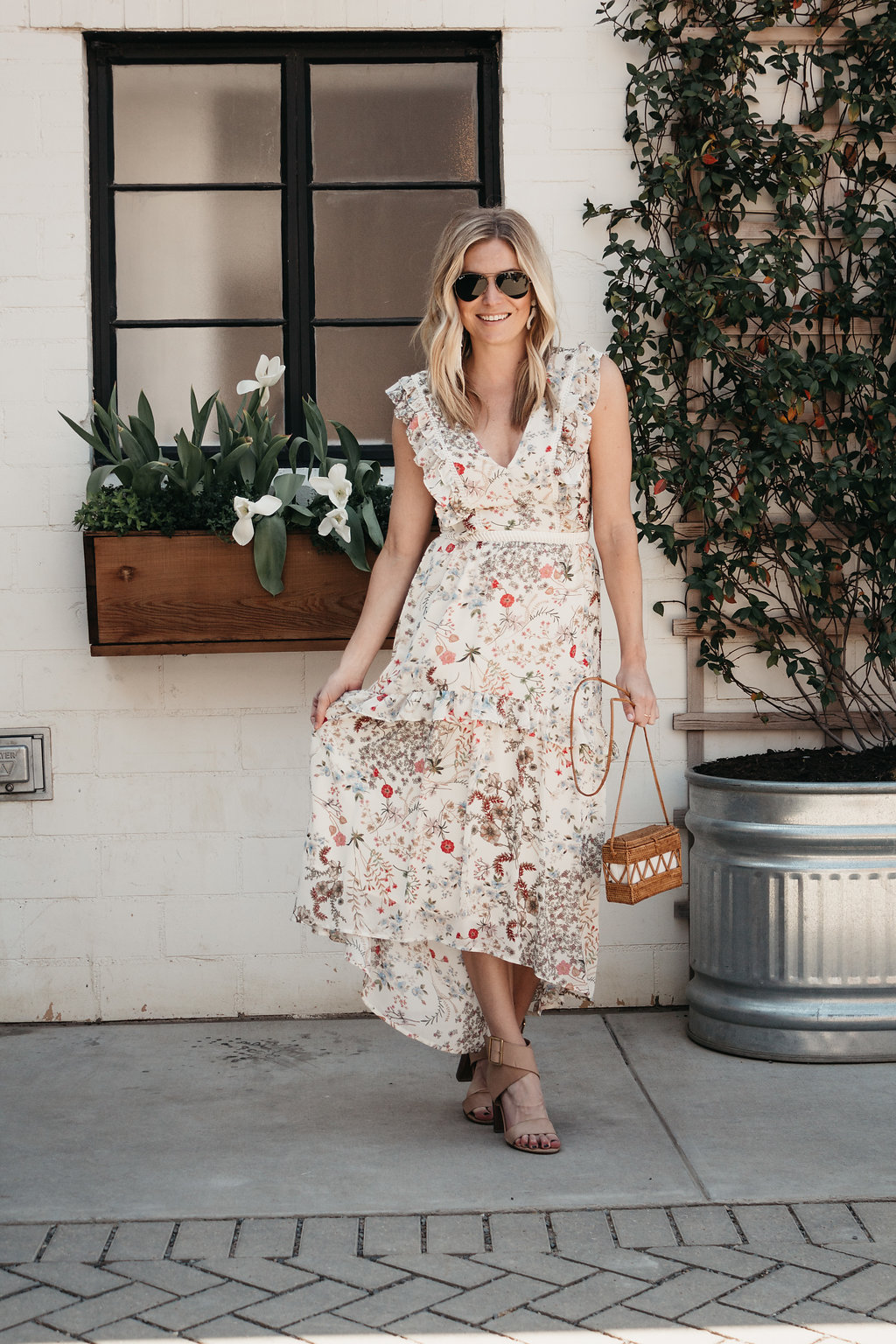 One Small Blonde is featuring a floral dress