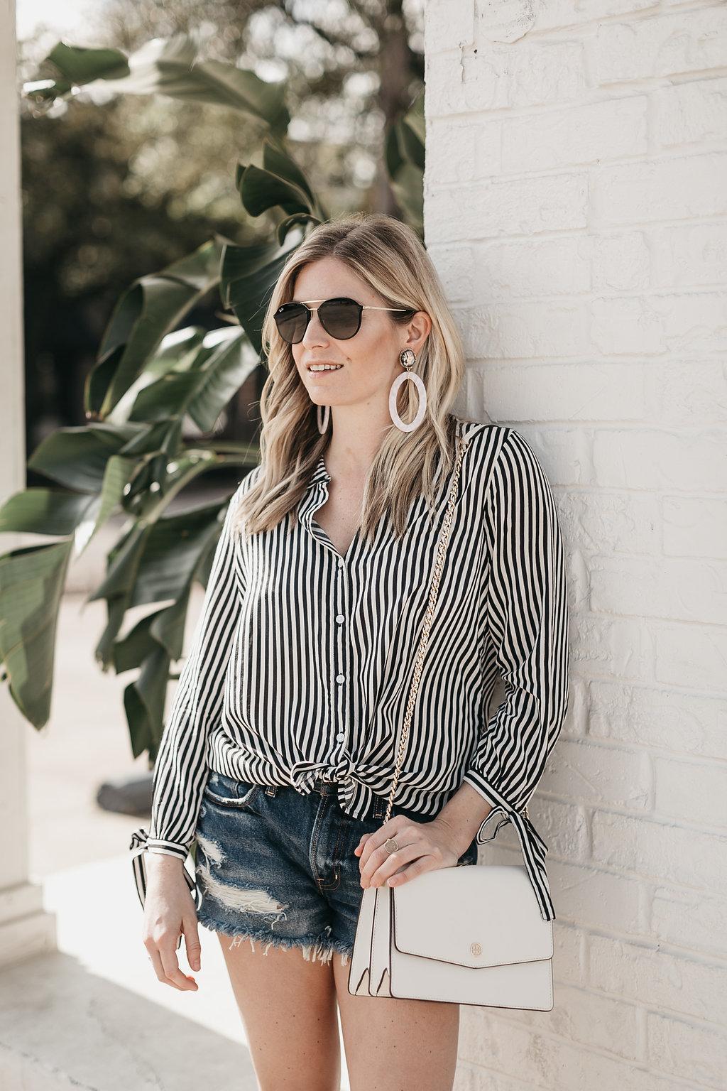 trendy Spring accessories on Brooke Burnett