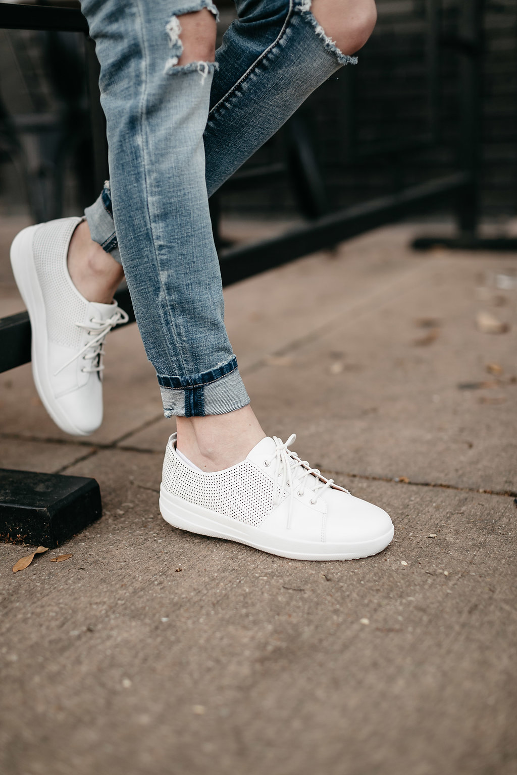 comfortable white FitFlop sneakers