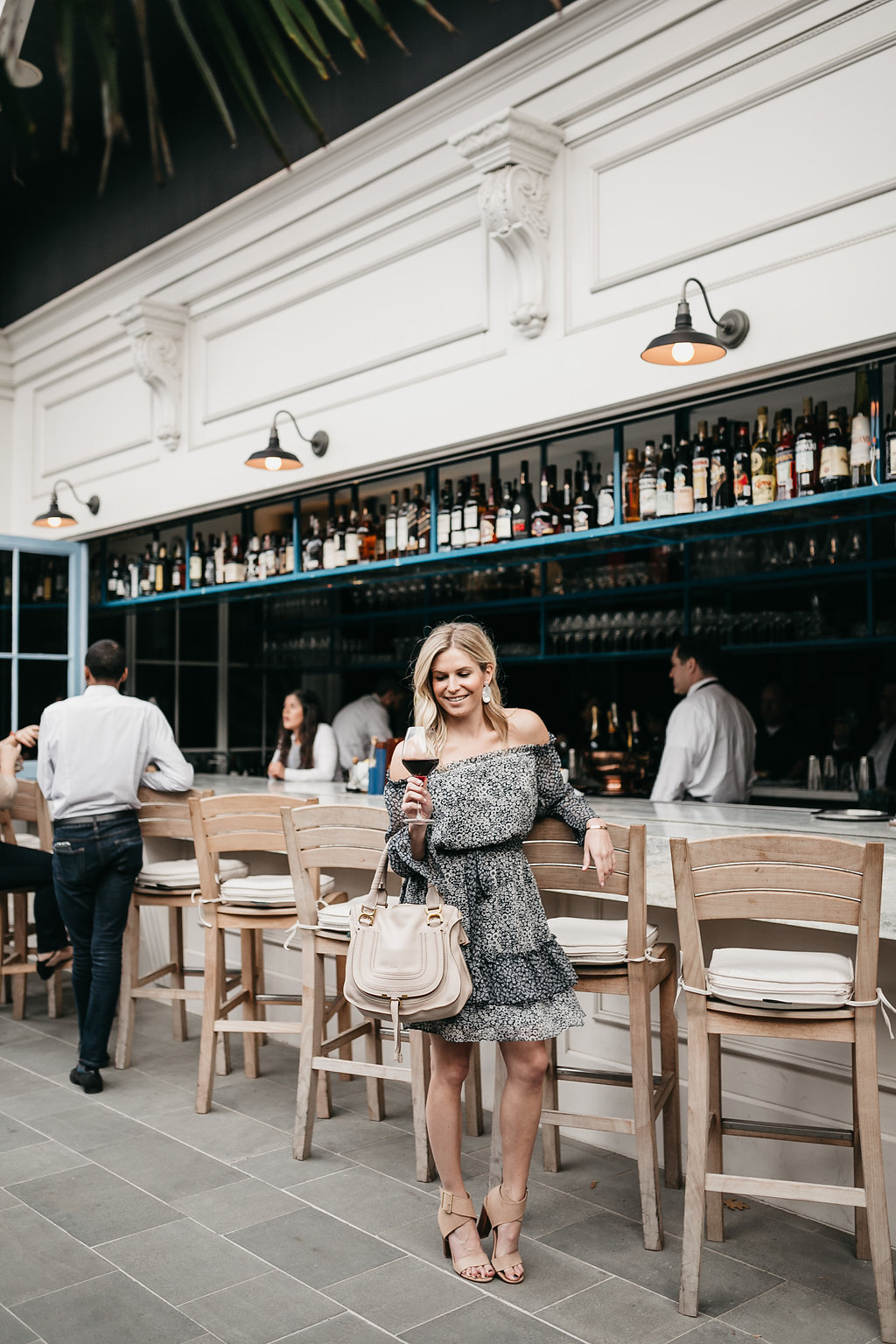 Dallas fashion blogger at Dolce Riviera in Harwood district