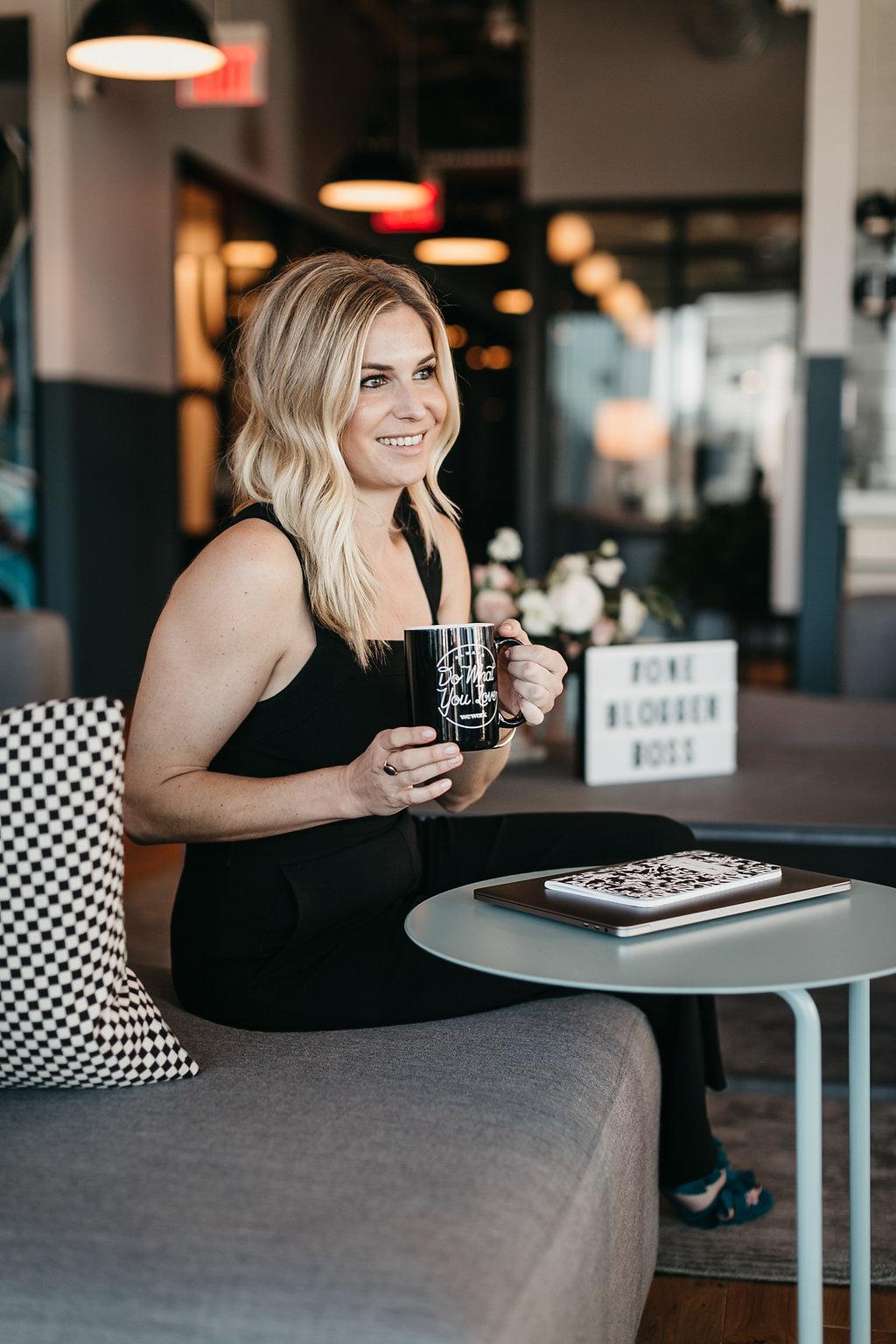 Blogger boss Brooke Burnett at WeWork