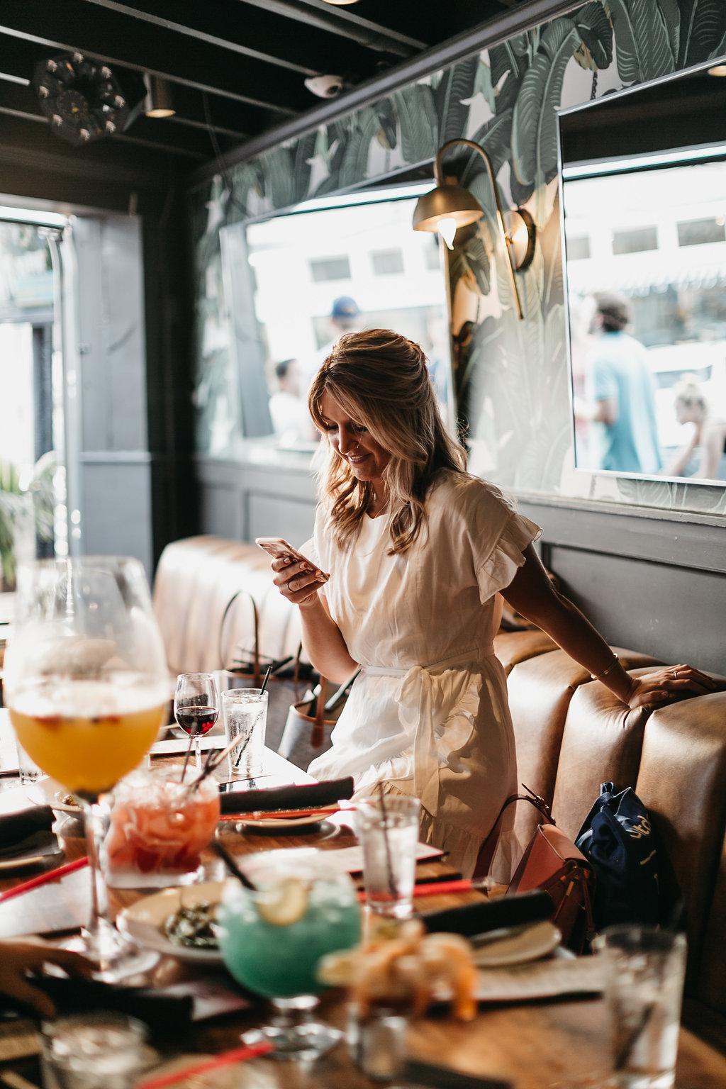 fashion blogger at Bar Stellar in Knox Henderson