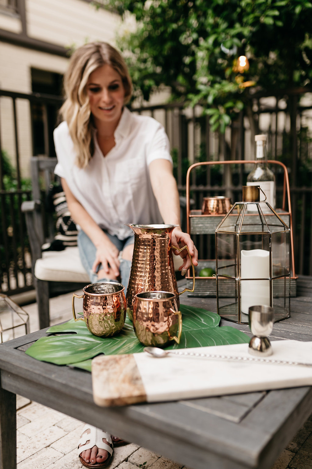 Copper & Metal Collection Hammered Pitcher | One Small Blonde