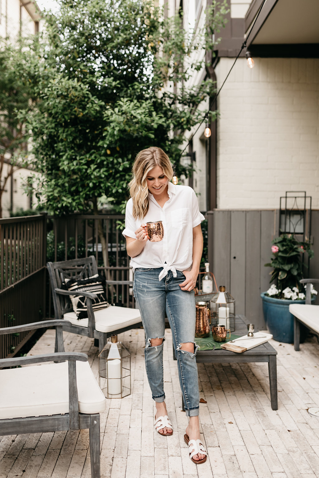 Patio Weather With Pier 1 One Small Blonde Dallas