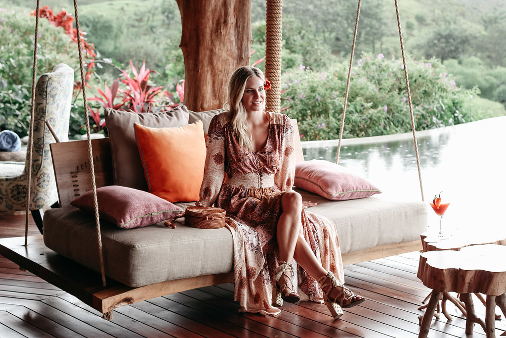 floral maxi dress, costa rica, free people,