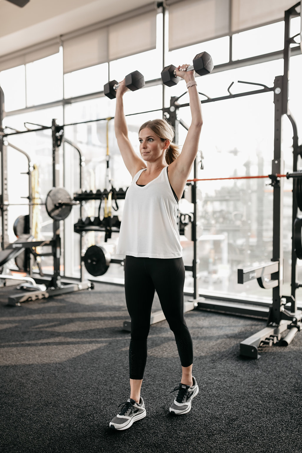 DUMBBELL OVERHEAD PRESS as exercises for toned arms