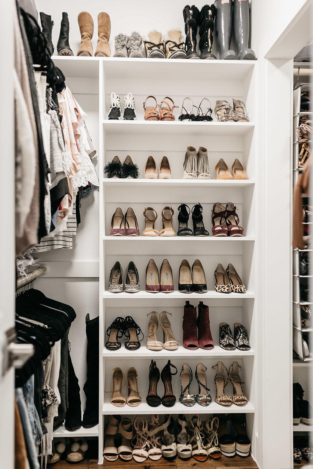 shoe CLOSET ORGANIZATION REVEAL