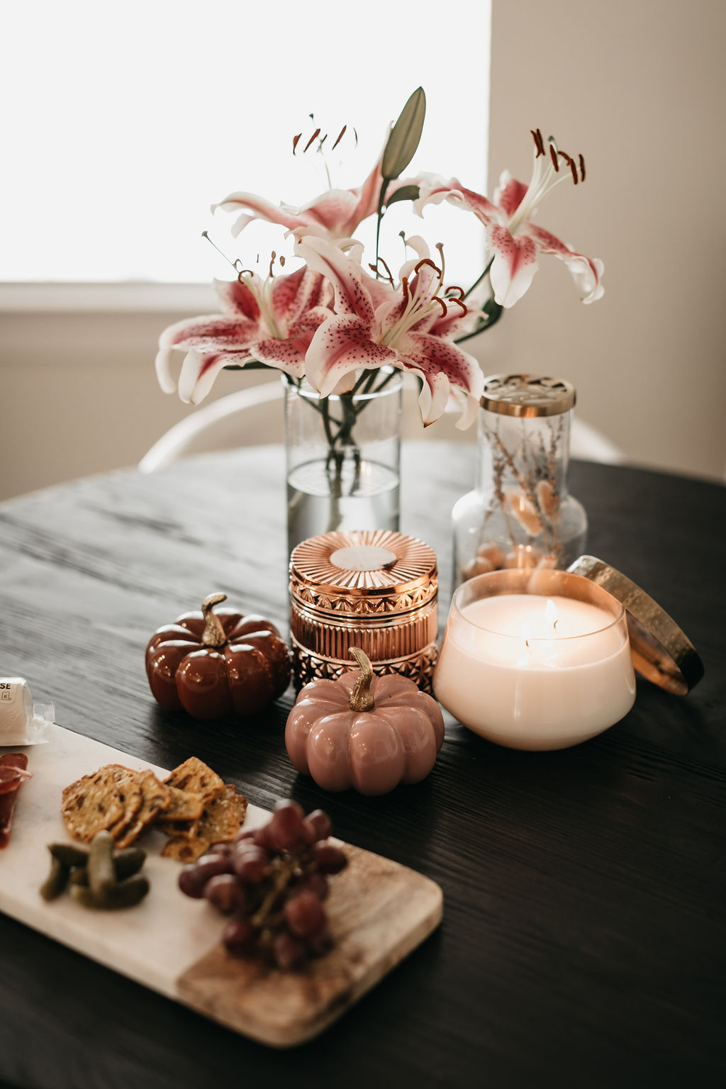 fall-themed decor