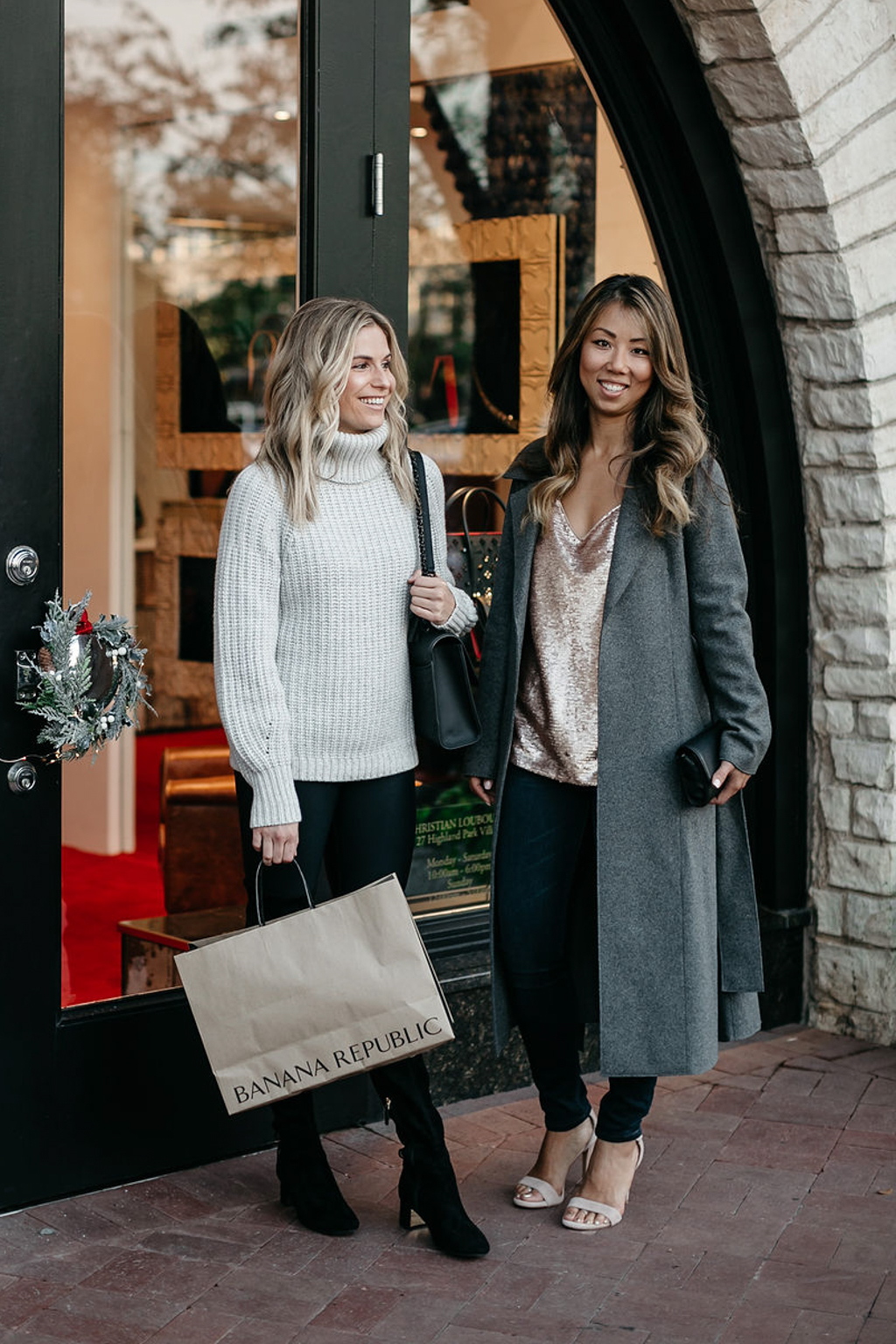 Banana Republic holiday style - One Small Blonde
