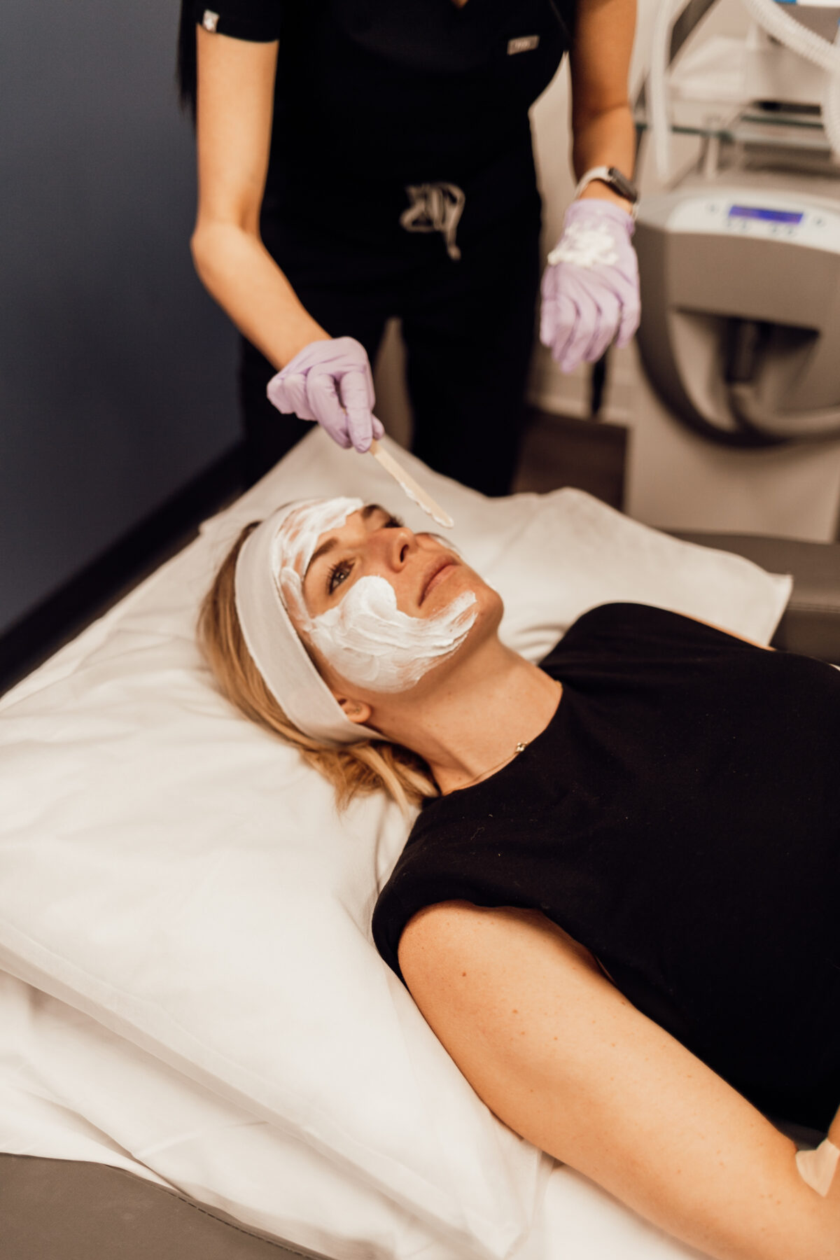 woman being treated with Melasma Treatment