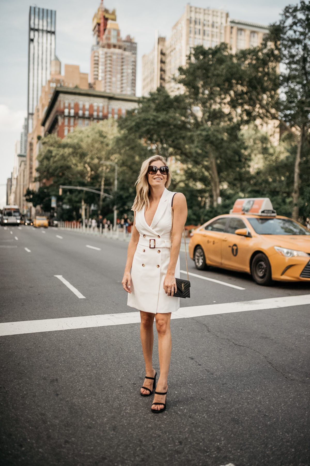 Suit dress - How to  overcome feeling stuck in your career - One Small Blonde