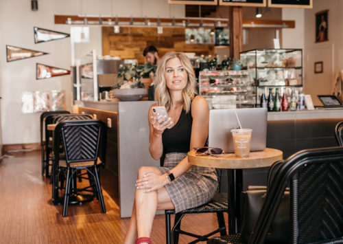 Brooke sits at a coffee shop to dish on how to prioritize work tasks