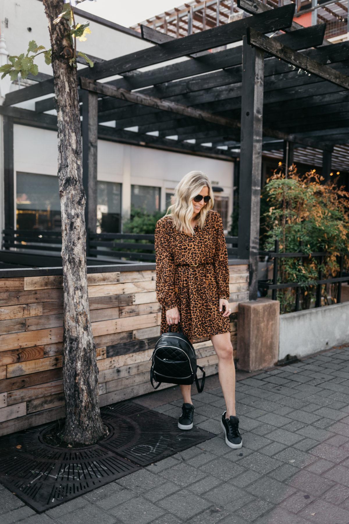a leopard dress