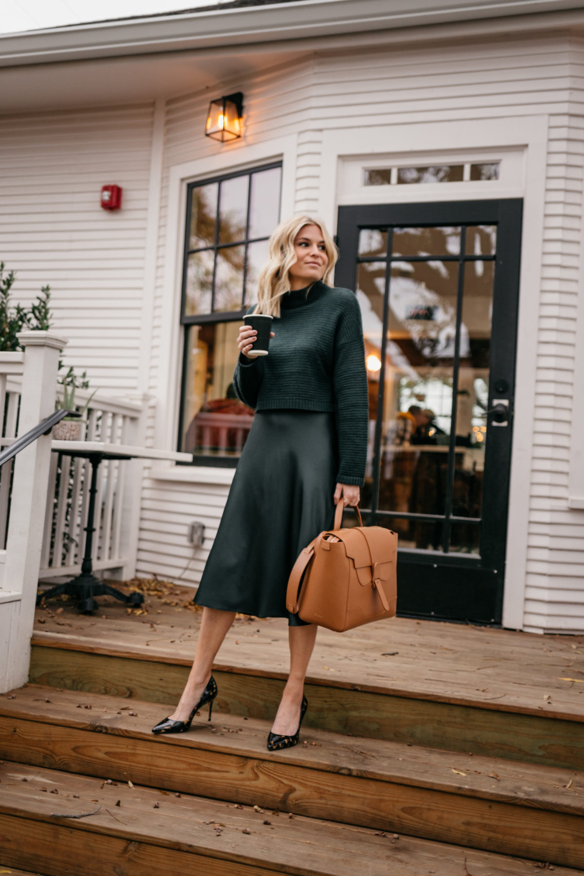 green work outfit