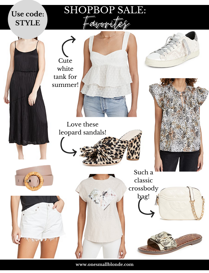 collage of clothing items from Shopbop Spring Sale 2021