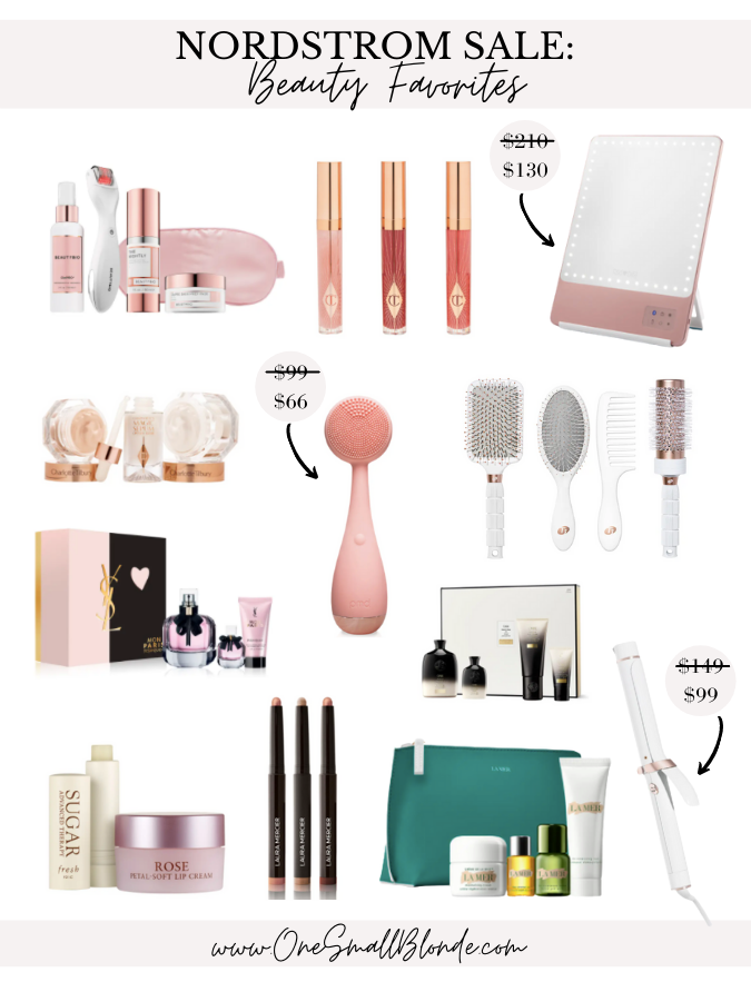 a collage of nordstrom beauty exclusives products