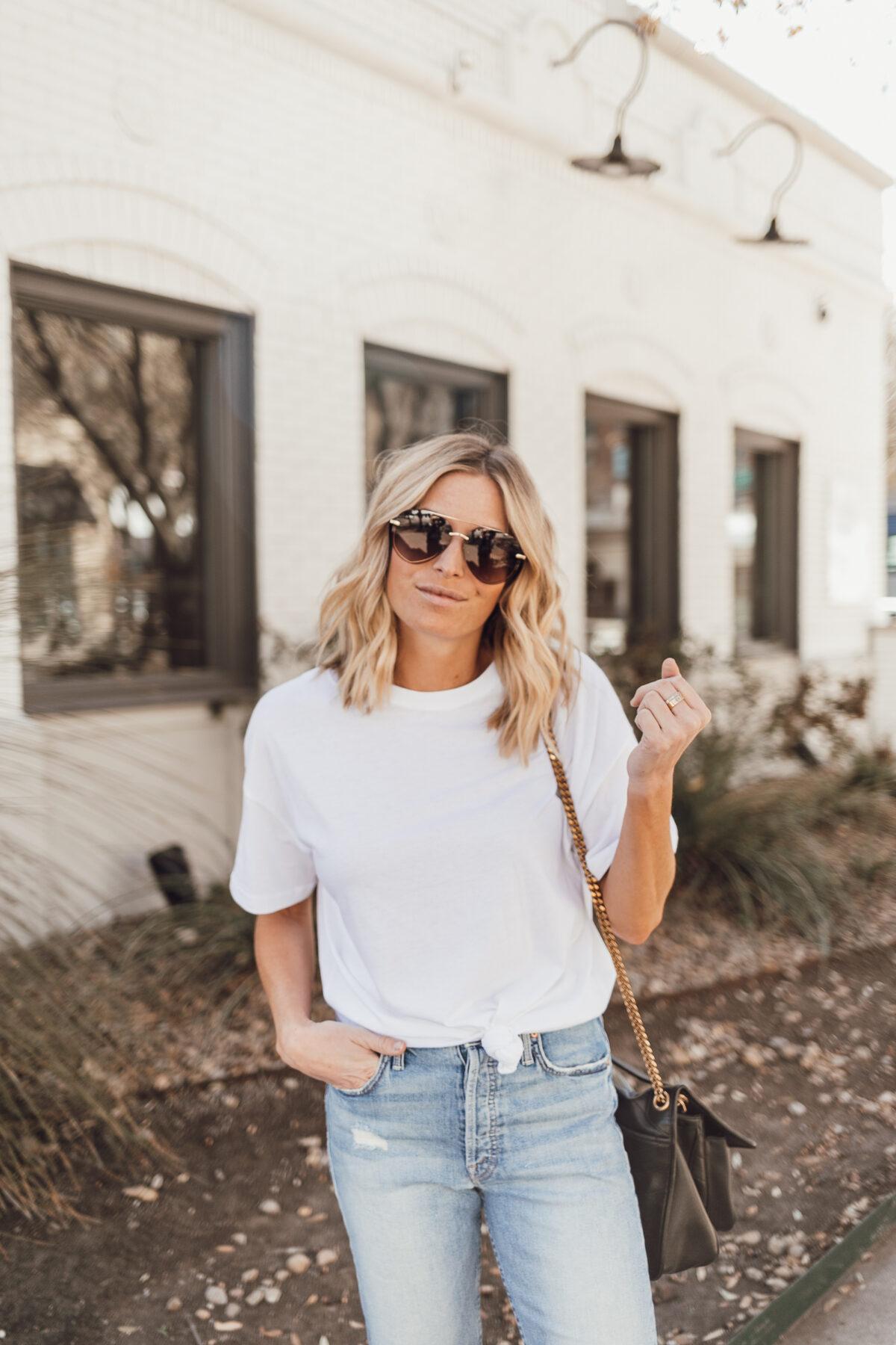 plain white shirt outfit