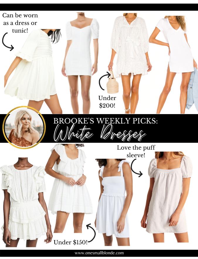 short white dresses for spring