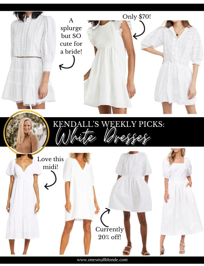 mini and midi white dress