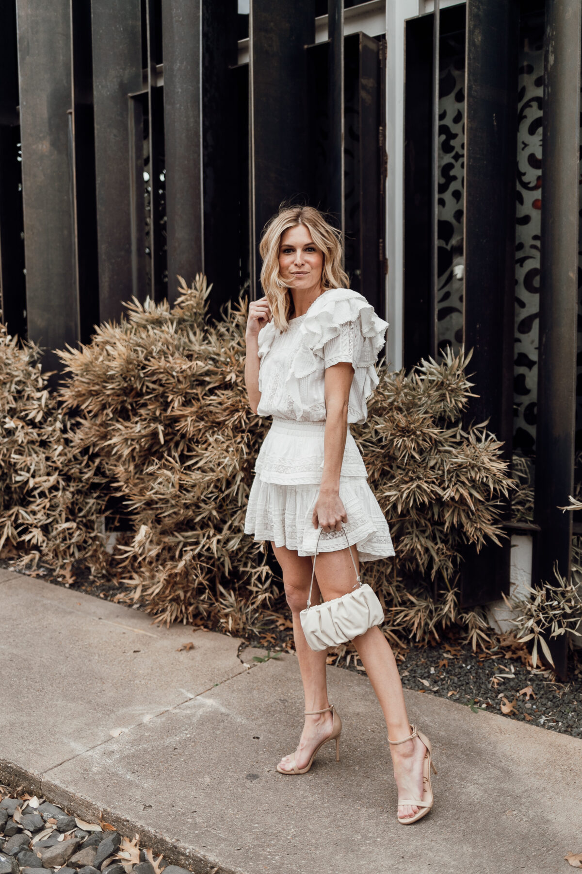 white dress outfit idea