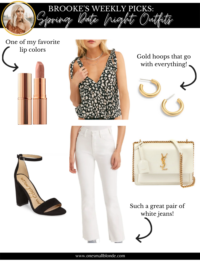 makeup, clothes, and accessories for date night outfits
