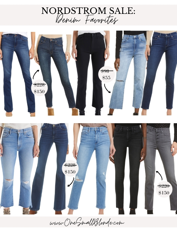 collage of nordstrom anniversary sale jeans