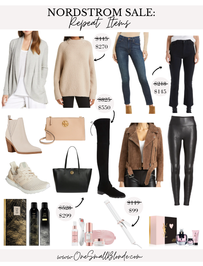 collage of NORDSTROM ANNIVERSARY SALE REPEAT ITEMS